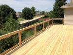 cedar deck Bent Oak – after construction