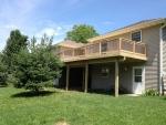 custom deck Bent Oak – after construction