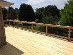 Bent Oak cedar deck – after construction