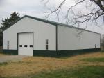 Everett School barn construction