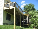 wooden deck Hillshire