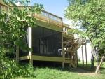 Hillshire wooden deck