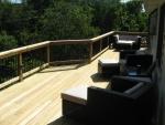 wooden deck in Hillshire
