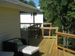 Hillshire custom cedar deck